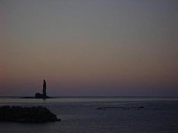 ローソク岩の夕焼け3-3.JPG